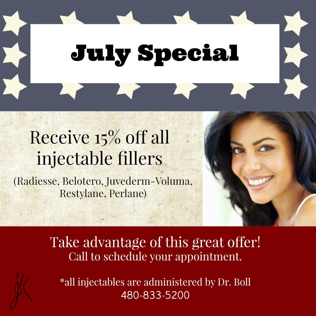 July - 15% off fillers