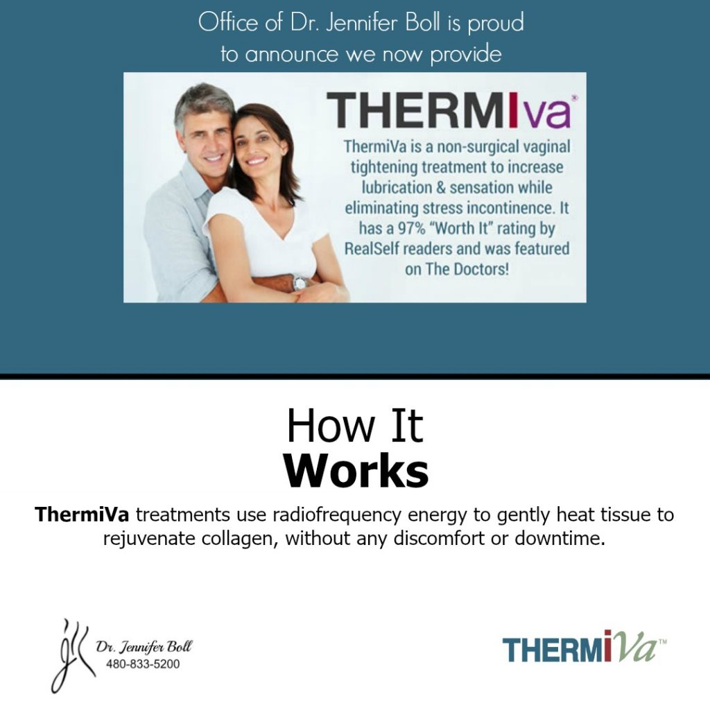 Office of Board Certified Dr. Boll now provides ThermiVa treatments.