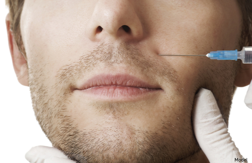 Man getting an injectable dermal filler-img-blog
